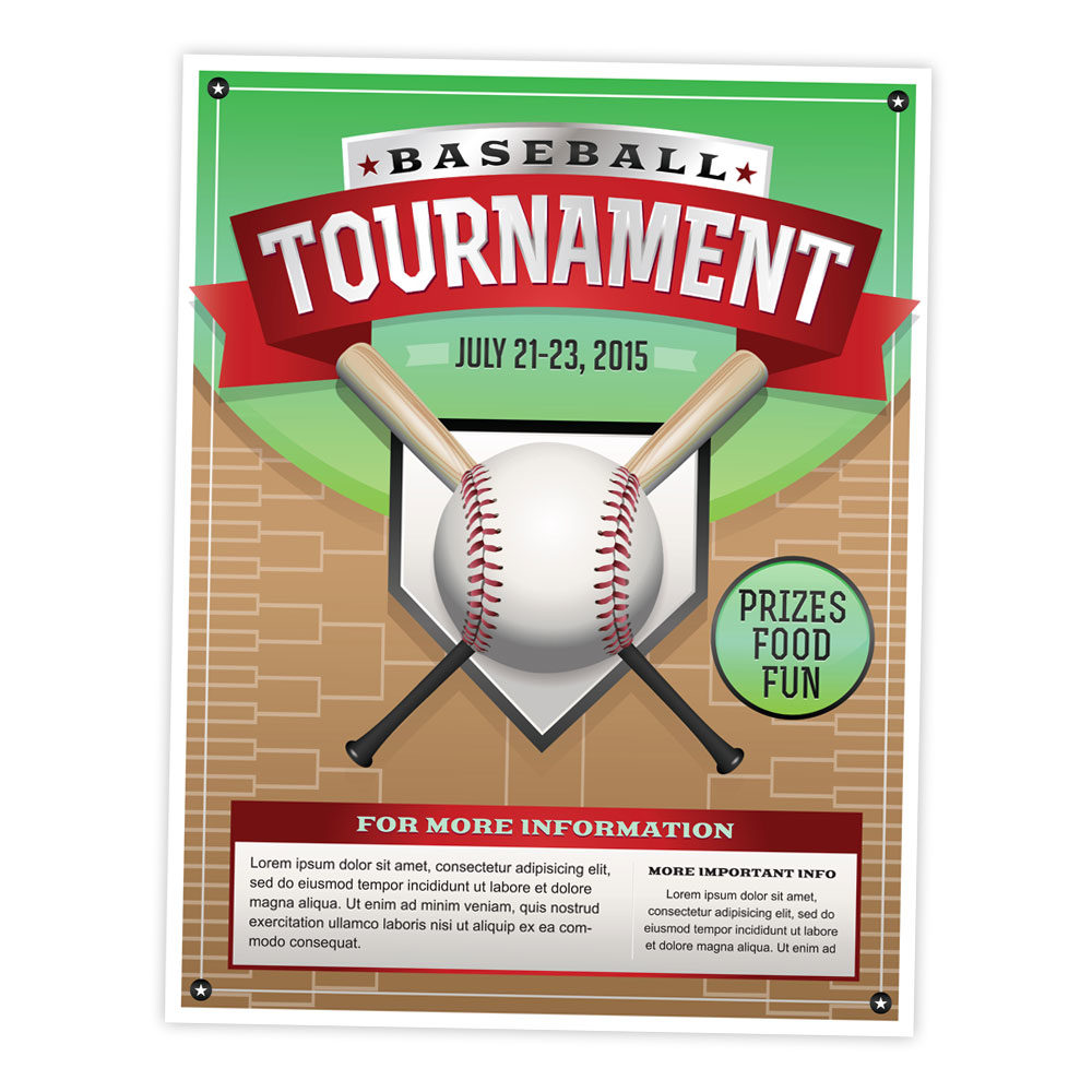 Illustration – Baseball Tournament Flyer