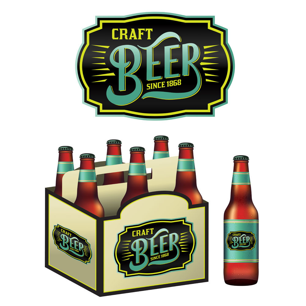 Illustration – Craft Beer Six Pack