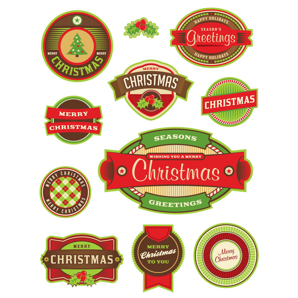 Illustration – Christmas Holiday Badges