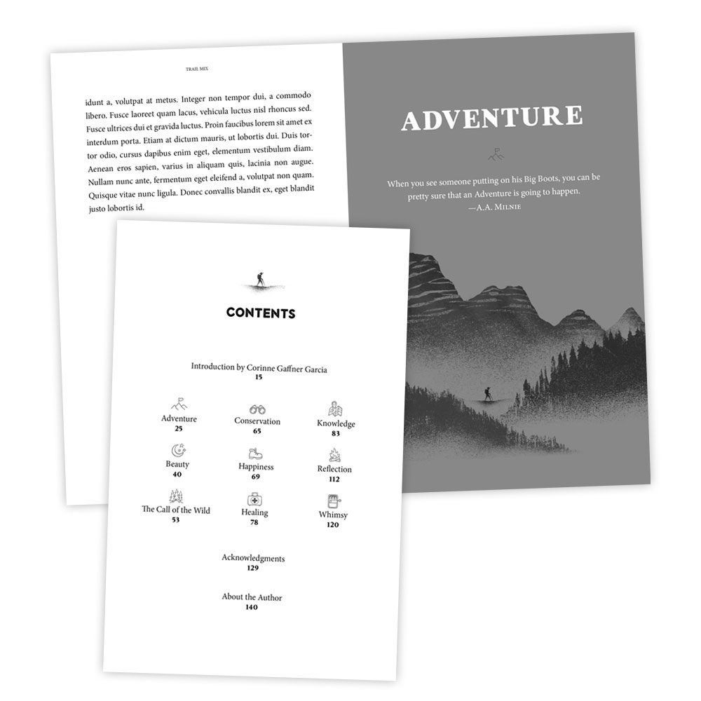 Interior Design – Adventure Book Layout and Design