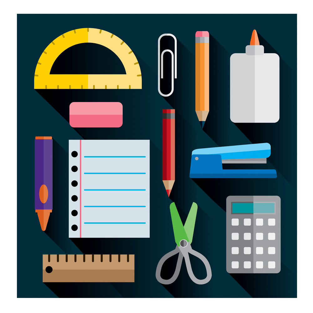 Illustration – School Supplies Flat Design